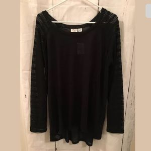 Cato Plus 18/20W Blk Lightweight Sheer Sweater (L)